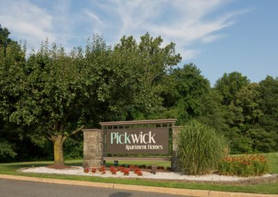 Pickwick Apartments Entrance Sign in Maple Shade, NJ